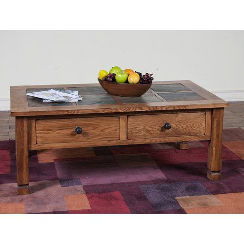 Found it at Wayfair Fresno Coffee Table with Slate Top House