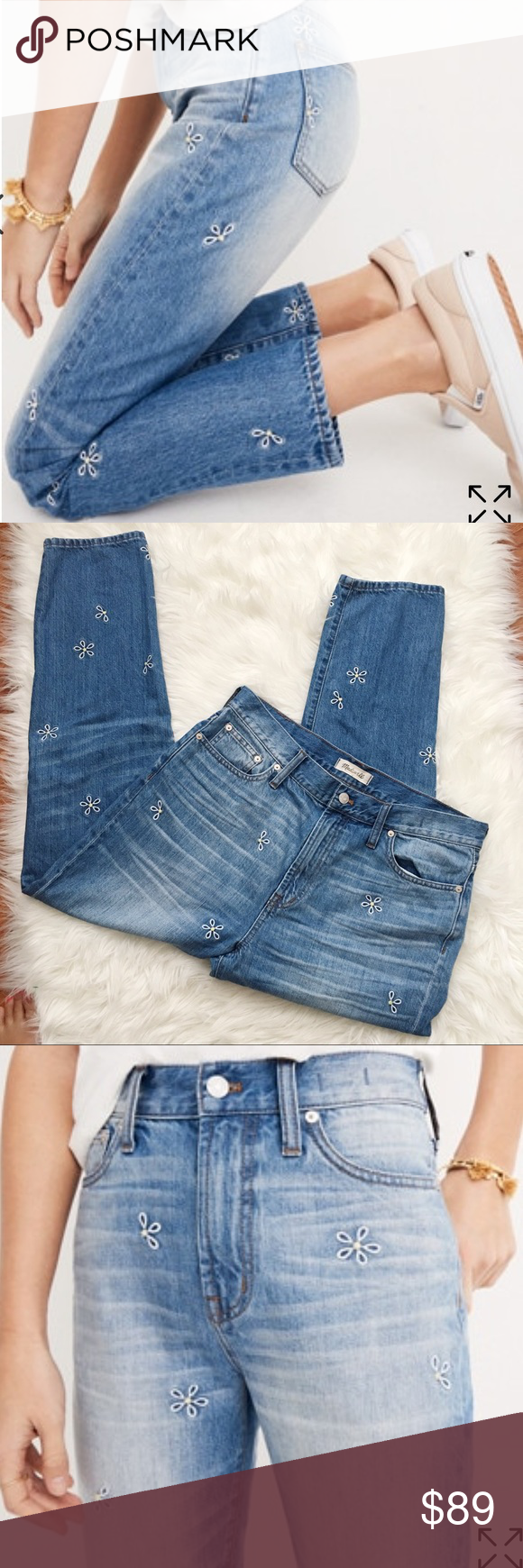 549051471b0c Madewell Perfect Summer Jean- Daisy Embroidered With its waist-accentuating high  rise and tapered legs, our vintage-inspired summer style is here to stay in  ...