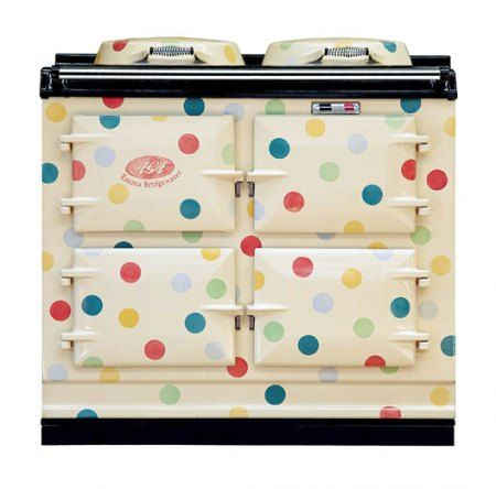 AGA Rangemaster polka-dot cooker designed by Emma Bridgewater.