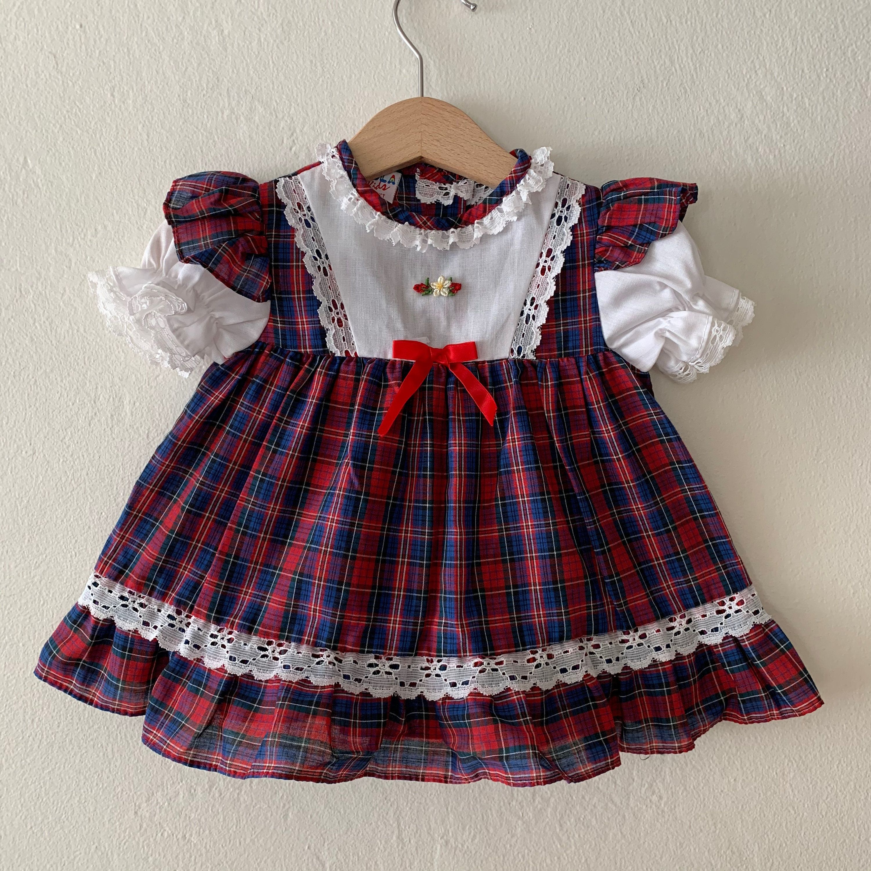 Vintage Baby Girls Holiday Dress, Vintage Baby Girls Christmas