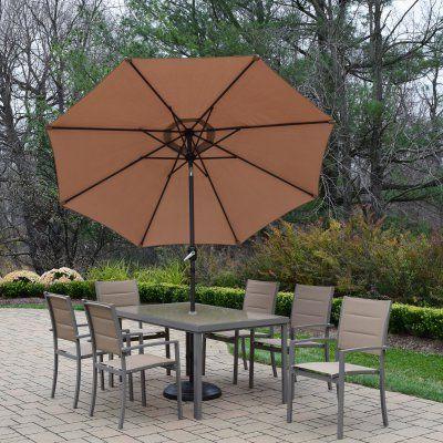 outdoor oakland living padded sling aluminum patio dining set with rh pinterest com au