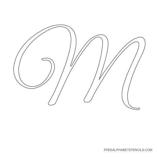 Elegant Cursive Alphabet Stencils in Printable Format ...