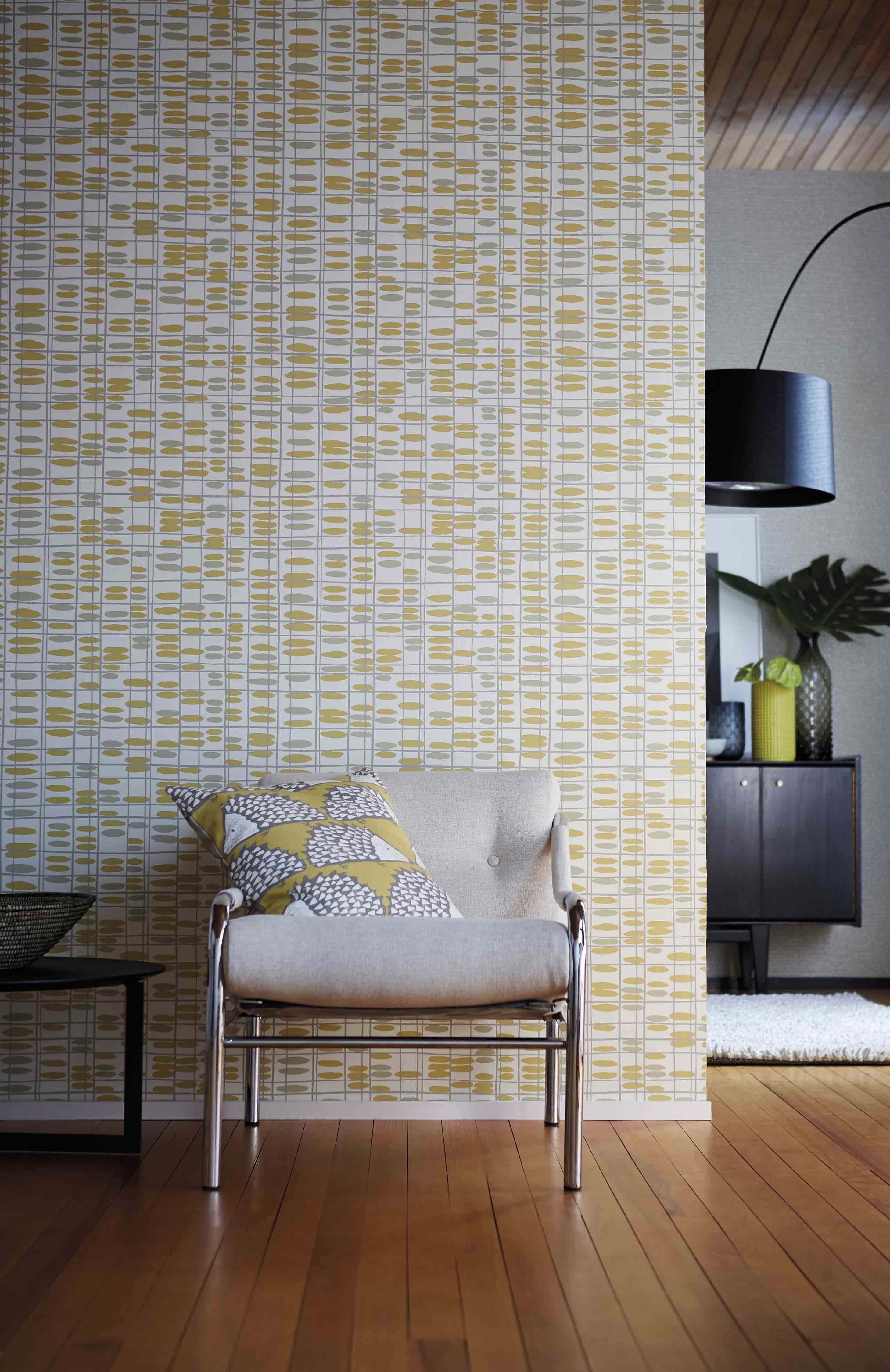 saldo scion s retro inspired geometric wallpaper is a quirky grid rh pinterest at