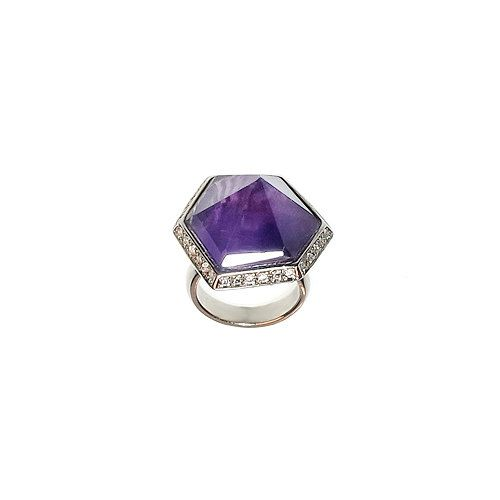 Amethyst silver ring. 925 sterling silver ring. by ETNAjewerly