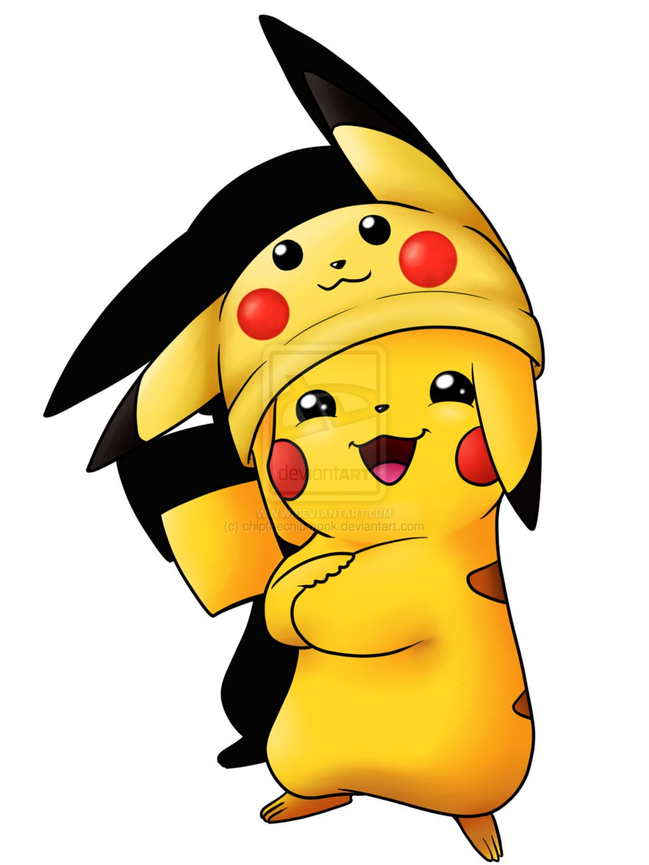 Pikachu In A Pikachu Hat Pikachu Drawing Pikachu Cute Pikachu