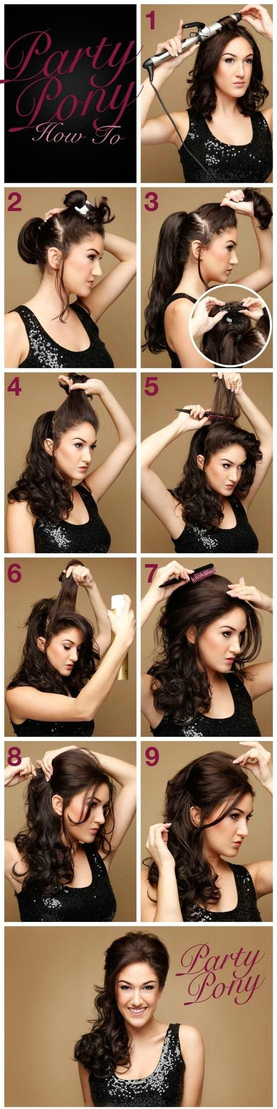 Party pony Cabello Pinterest Pony Summertime and Hair style