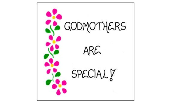 Remember Your Godmother On Mother's Day! Magnet By
