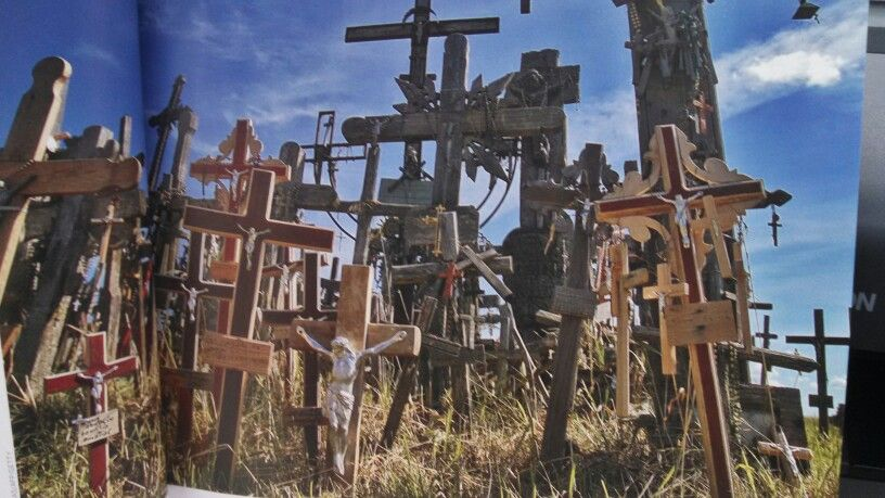 """""""Hill of Crosses. """"   Northern Lithuania."""