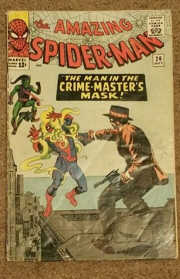 AMAZING SPIDER-MAN #26 MARVEL COMICS 07/65 1ST CRIME MASTER 4TH GREEN GOBLIN VG+ in Collectibles, Comics, Silver Age (1956-69) | eBay