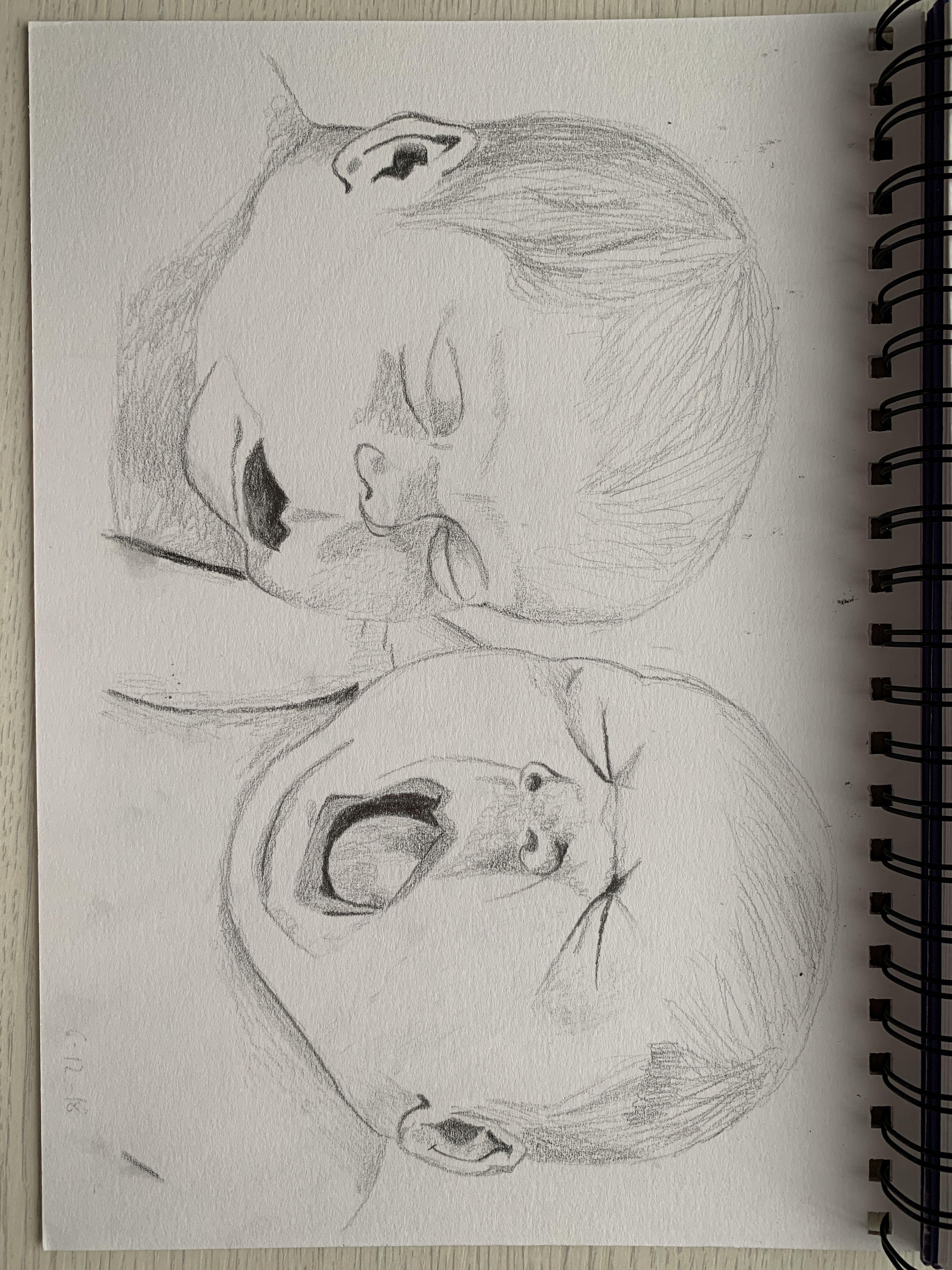 Dibujo A Lápiz Fácil De Niños Bebés Female Sketch Male Sketch Art