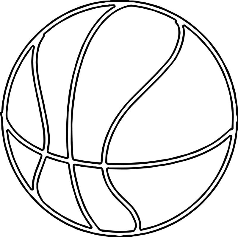 Fine Basketball Ball Outline Coloring Page Di 2020