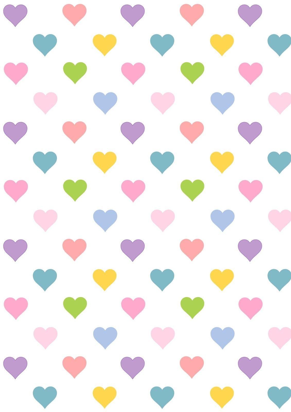 Free digital heart scrapbooking paper - ausdruckbares Geschenkpapier - freebie