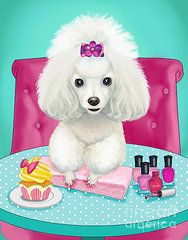 cupcakes day at the nail spa by catia cho poodles caniche rh pinterest es