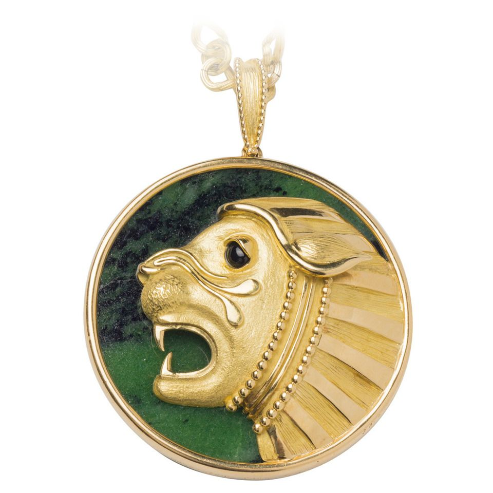 Mauboussin malachite gold lion pendant necklace necklace chain mauboussin malachite gold lion pendant necklace from a unique collection of vintage chain necklaces at aloadofball Choice Image