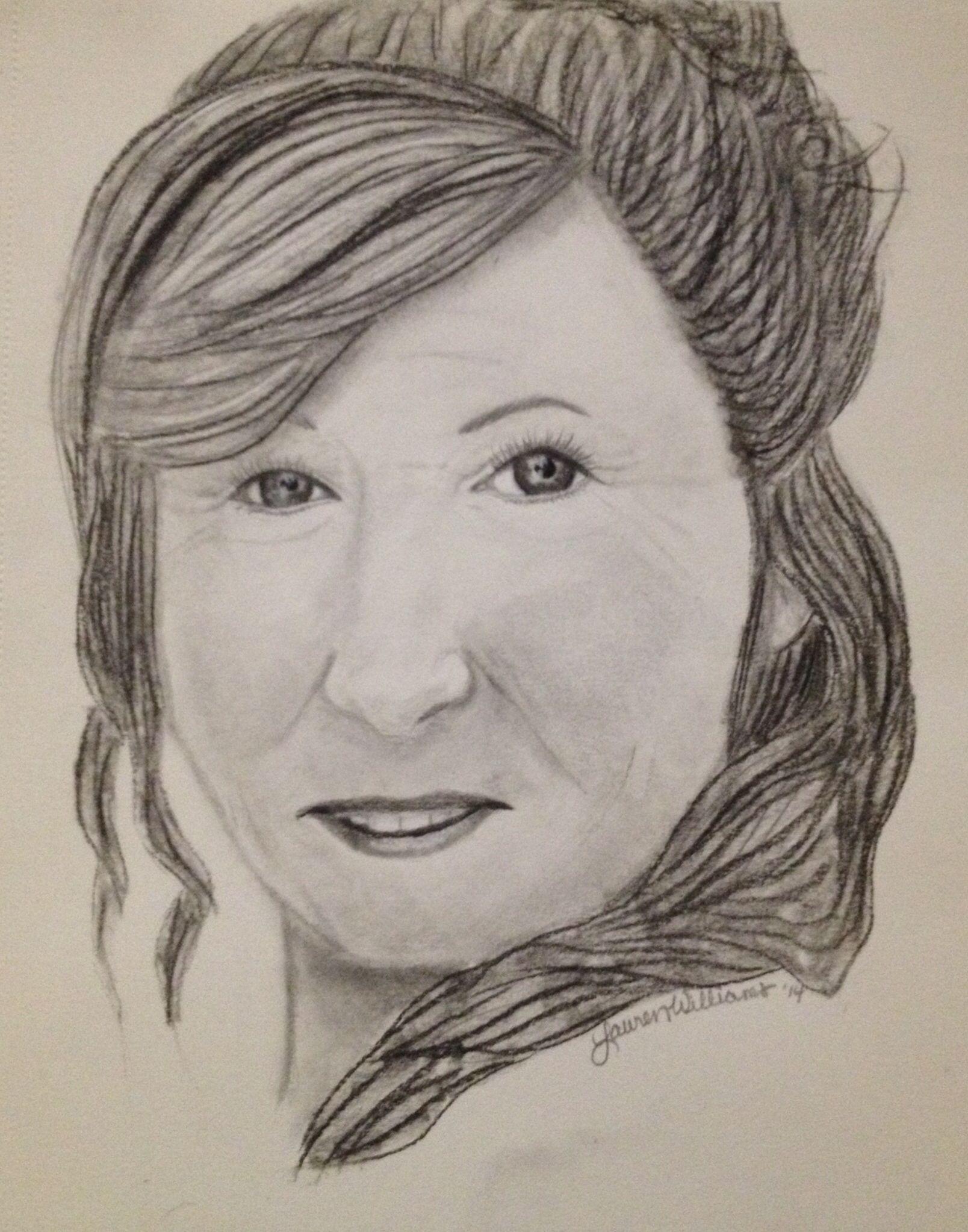 Pencil drawing of my mom-2014   Pencil drawings, Drawings ...