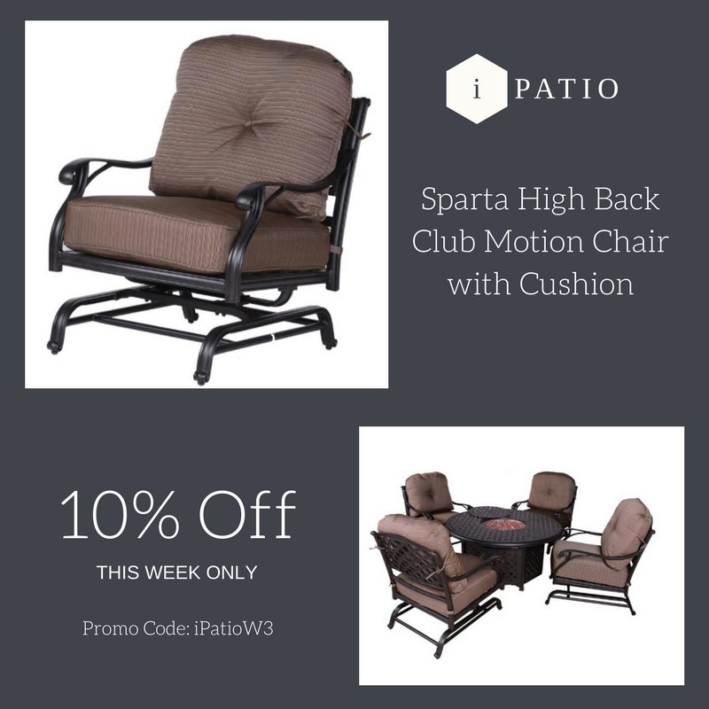 Patio Sparta Luxury High Back Club Motion Chair with ... on Sparta Outdoor Living id=31331