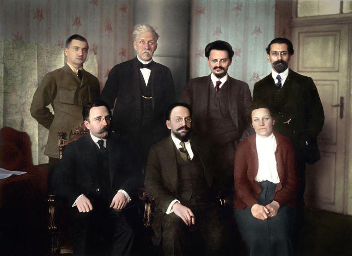 Soviet Delegation At Brest Litovsk 15 01 1918 Brest Litovsk
