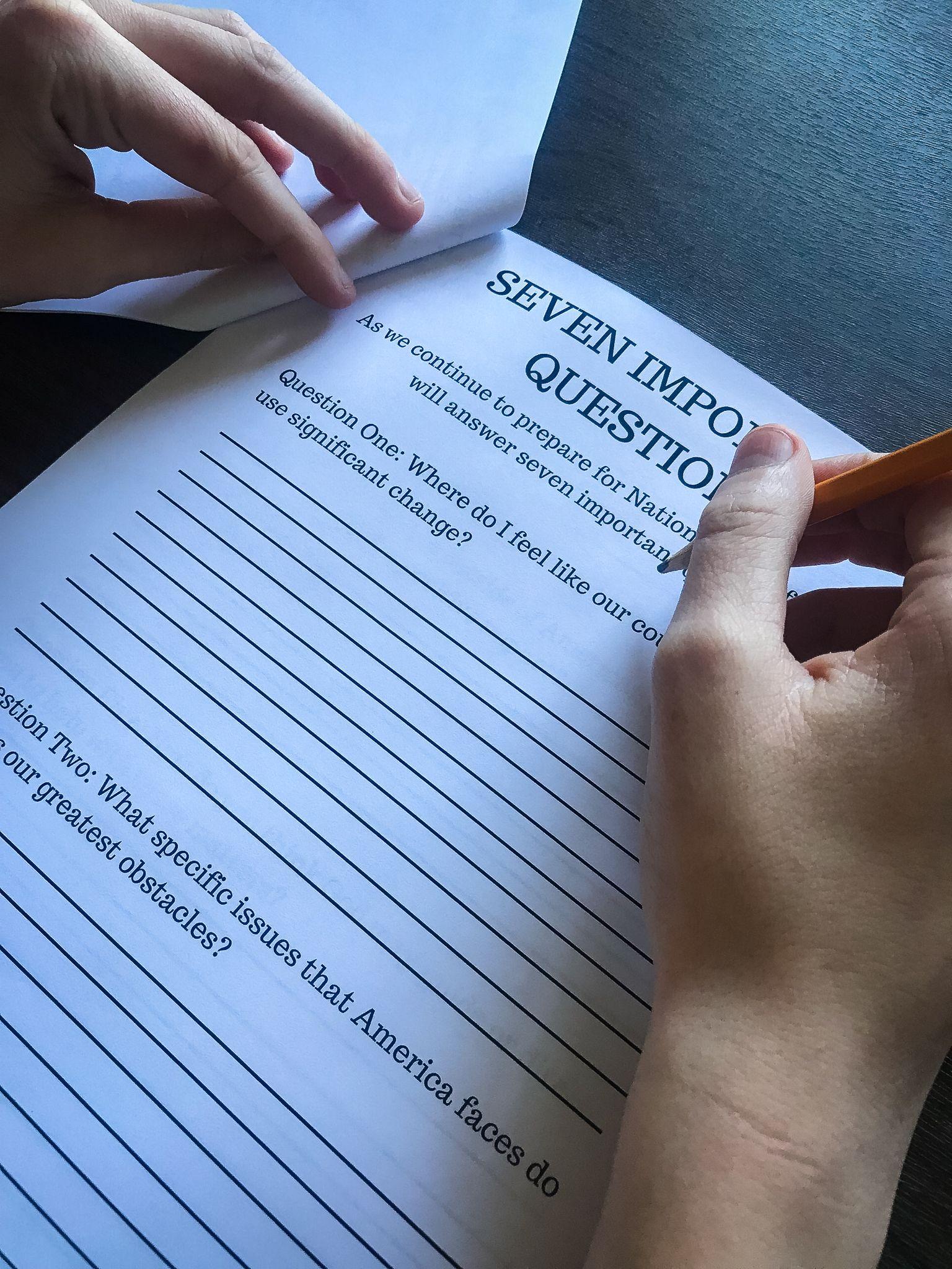 National Day Of Prayer Preparation Workbook