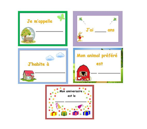 INTRODUCE YOURSELF in FRENCHTeaching ResourcesRole Play – French Worksheets for Kids