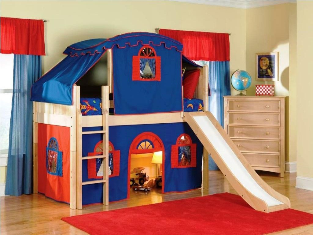 Loft bed with slide and storage  Bunk Beds for Kids with Stairs  Best Interior House Paint Check