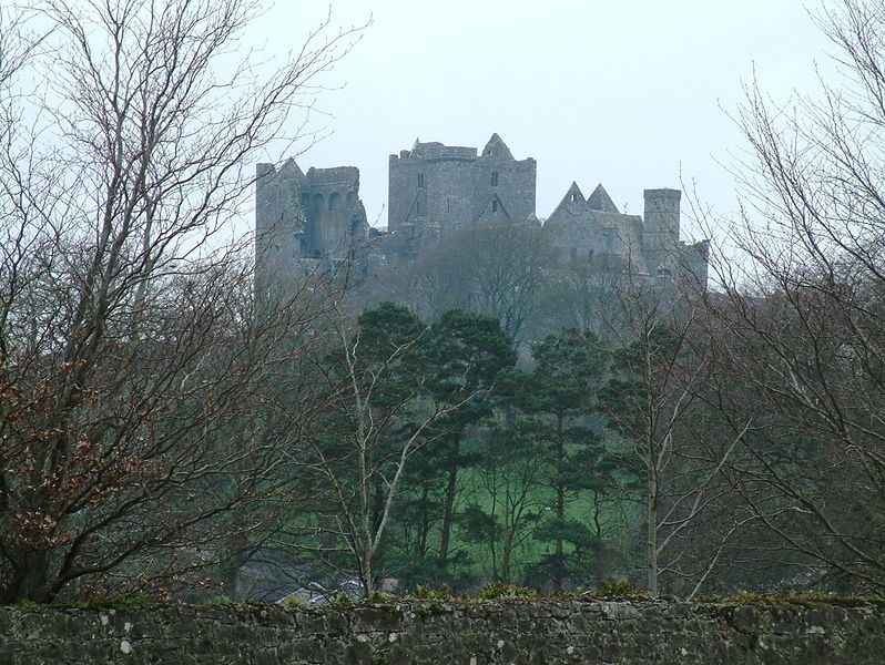 During the winter months, you can see the Rock of Cashel from nearly every direction because all the leaves are gone from the trees.  Author: Irish typepad