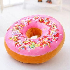 ShippingFunny Cartoon Sweet Chocolates Donuts Chair Back Cushion Car Mats  Student Pillow Toy