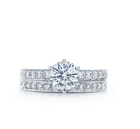 Tiffany & Co. | Engagement Rings | Round Brilliant With Bead-set Band
