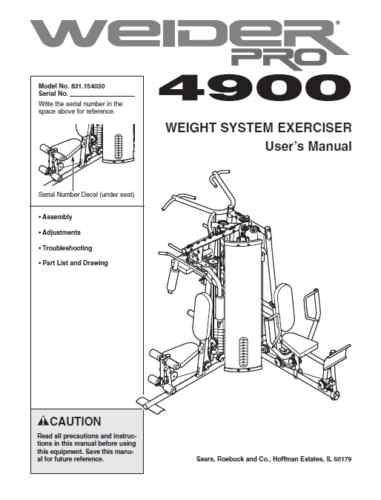 weider pro 4900 user manual assembly instructions pdf my style rh pinterest com Weider 4900 Review 3 Station Weider Pro 4900
