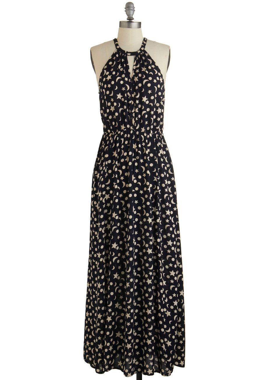 Ink Positively Dress in Celestial | vestido polka o de lunares ...