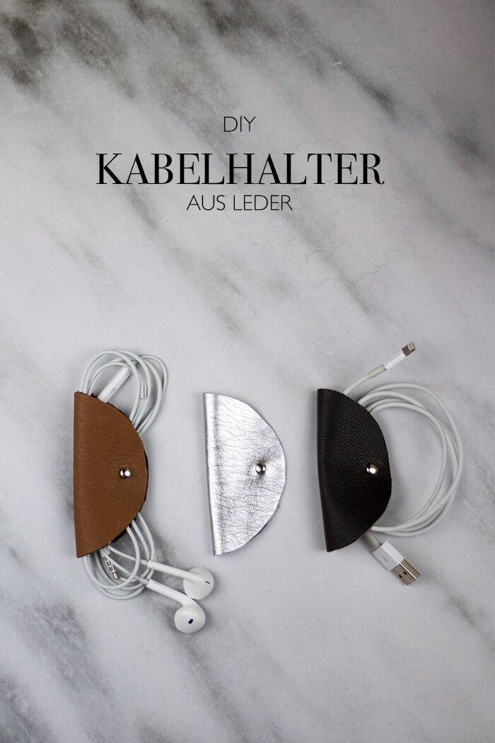 LEDER DIY KABELHALTERUNG SELBSTGEMACHT   Mother daughter crafts ...