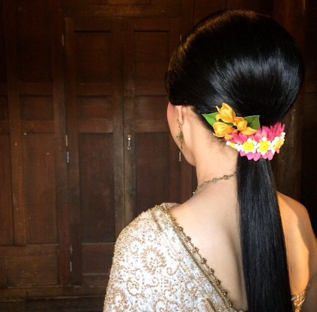 Thai Wedding Hairstyle Cr Nongchat Wedding Wedding