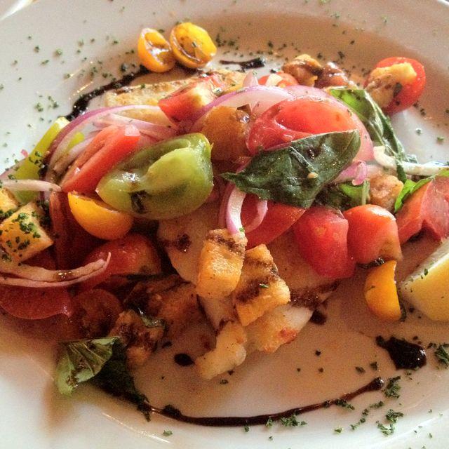 Halibut special for Festival di Pomodori! Mmm delicioso!!!