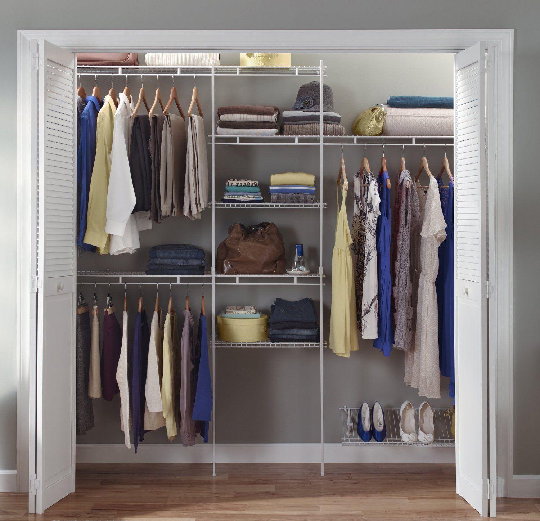 Amazon closetmaid ft to ft closet organizer kit