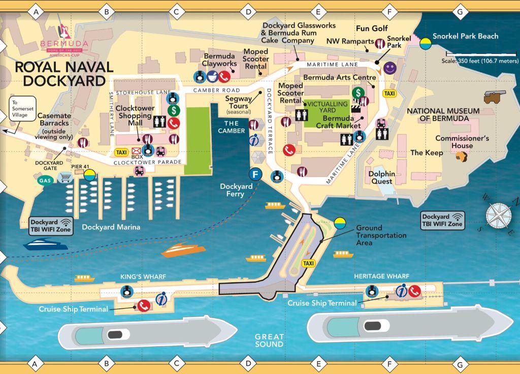 Public Bus location at DockYard Bermuda Cruise Critic