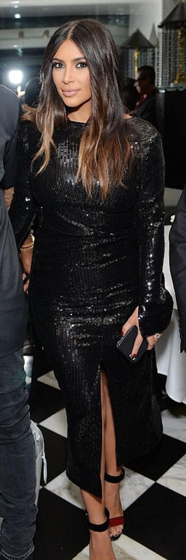 Kim Kardashian wearing Tom Ford and CK Calvin Klein