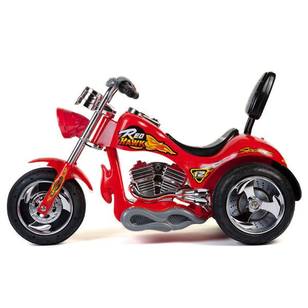 12v battery powered kids ride on toy chopper motorcycle car 3 wheels red minimotos