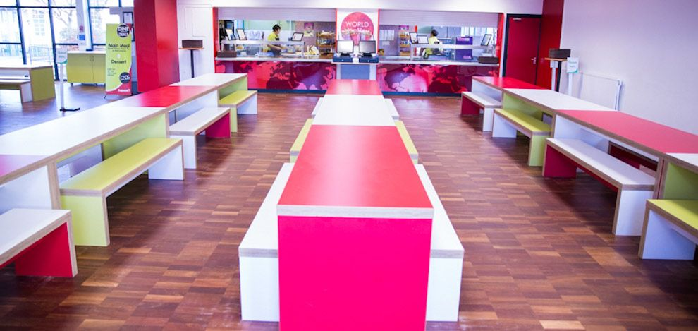 Hodge Hill College Birmingham School Dining Room Furniture by