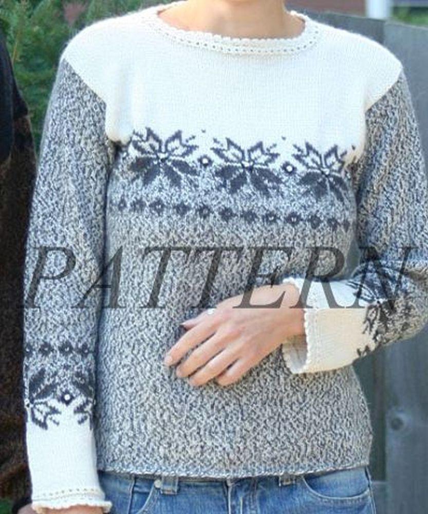Misti Alpaca Miranda Alpine Pullover & Hat Pattern - Worsted or Sport