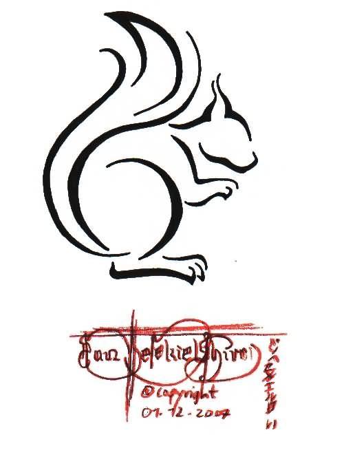Squirrel Tattoo Images Designs Squirrel Tattoo Squirrel Art Line Art