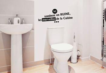 Sticker textes d co graphique et humoristique pour wc - Tableau humoristique pour wc ...