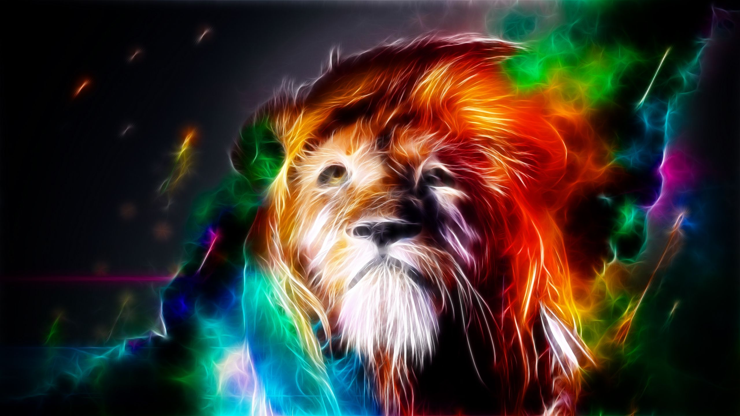 Fractal Art Lion Super Cool Picture Lion artwork, Animal