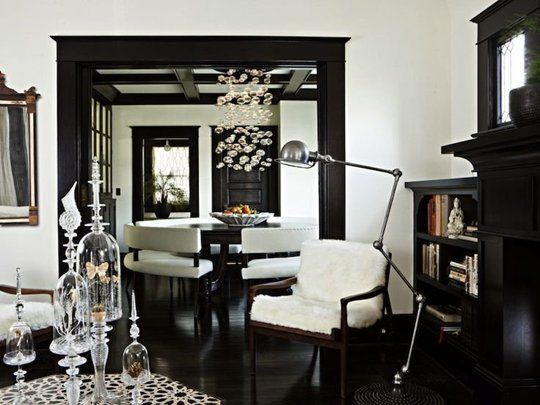 the new look for painted trim anything but white b w room rh pinterest com