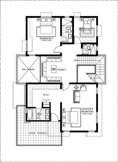 mhd 2016024 second floor plan 20 50 plot size plan double storey rh pinterest com