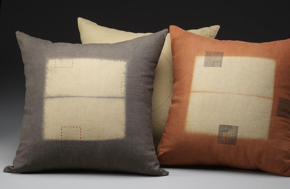 Barbara Zaretsky - Linen #pillows. Photography by Steve Mann http://www.bzdesign.biz/gallery/1siecm3l0hrqfw8xz0bu9hqmog2h9j