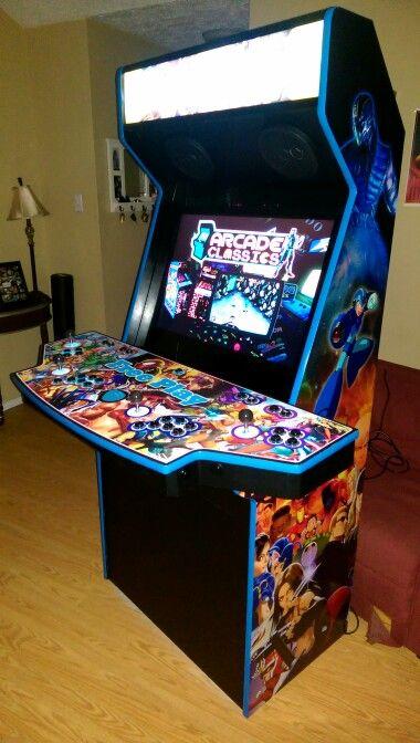 arcade cabinet 4 players diy arcade arcade game room arcade games rh pinterest com