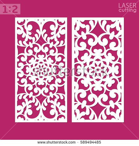 Laser cut ornamental panel with pattern may be use for die cutting laser cut ornamental panel with pattern may be use for die cutting template of wedding invitation stopboris Images