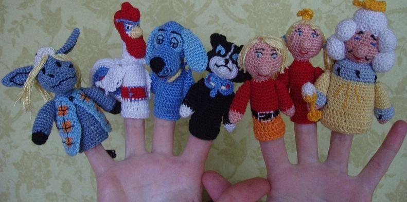 креативное вязание вязаные пальчиковые игрушки Amigurumi вязание