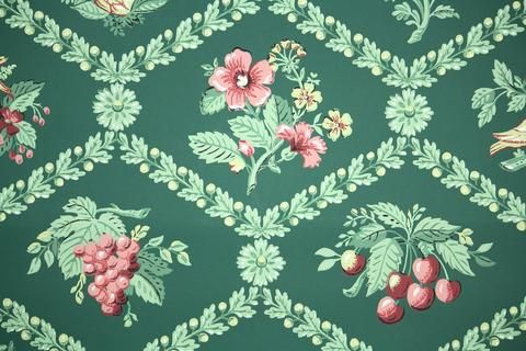 1940s Kitchen Vintage Wallpaper Wallpaper Christmas Colors