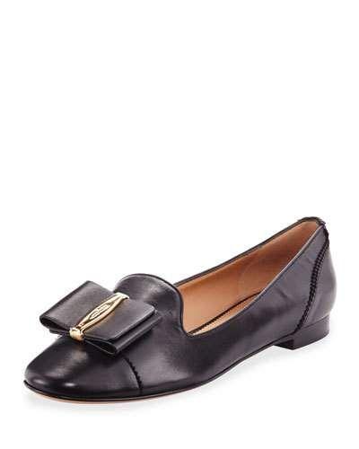 986f097663 SALVATORE FERRAGAMO Efisia Leather Loafer, Black. #salvatoreferragamo #shoes  #flats