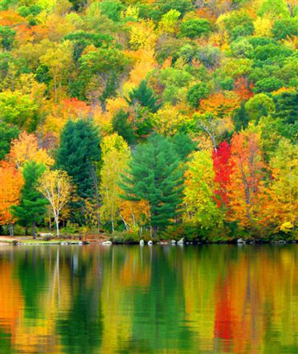 Fall foliage on Newfound Lake, New Hampshire - www.lakesregion.org ...